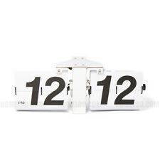 Retro Modern GIANT Big Number Auto Flip Wall Clock White