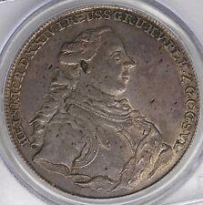 Reuss-Ebersdorf 1765 Heinrich XXIV Silver Convention Thaler PCGS AU53