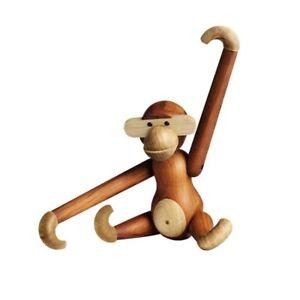 Wooden monkey Denmark teak monkey animal gift wooden figure/decoration figure