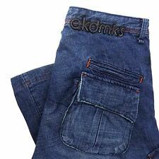Akademiks Jeans 34 Mens Pants Loose Fit Baggy Hip Hop Akdmks 34X28