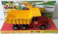 Lesney MATCHBOX Series K-19 SUPER KINGS Scammell Tipper Truck Model & Display [a