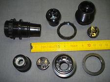 1 douille E14 VLM noire filetée avec bague raccord métal pas 10 mm (réf D)