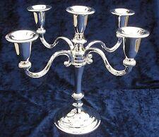 Kerzenleuchter - versilbert - fünfflammig - 26 cm hoch - mit rundem Fuss - NEU!