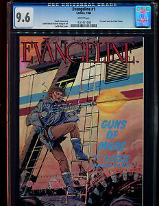 EVANGELINE 1 CGC 9.6-WHITE PAGES-1ST FULL COMIC WORK BY CHUCK DIXON-COMICO