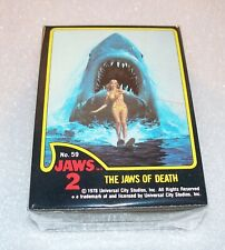 Jaws 2 Complete Trading Card Set Topps Shark Movie