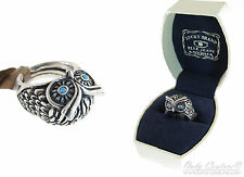 Lucky Brand Turquoise Color Eyed Owl Silver Tone Ring Sz 6 to 8 NEW