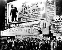 "PREMIER OF AL JOLSON's ""THE JAZZ SINGER"" AT WARNER THEATER - 8X10 PHOTO (CC-104)"