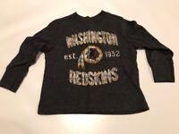 "NFL TEAM APPAREL BOY TODDLER SIZE 18/24M ""WASHINGTON REDSKINS"" LONG SLEEVE TEE"