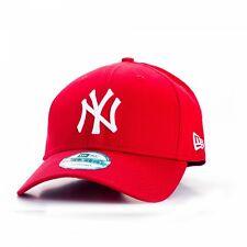 NEW ERA MENS 9FORTY BASEBALL CAP.GENUINE NEW YORK YANKEES RED ADJUSTABLE HAT 938
