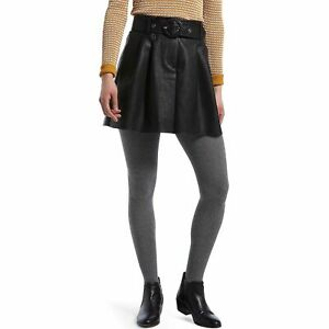 NEW Hue Cozy Comfy Cable Sweater Tights, Charcoal Heather  Sizes S/M or M/L