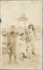4TH JULY CELEBRATION, MAY POLE, CHILDREN, AMERICAN FLAG, C.1920'S PHOTO