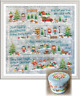 tiny modernist Christmas Village Counted Cross-stitch Pattern -All 4 Parts
