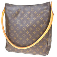 Auth LOUIS VUITTON Looping GM Shoulder Bag Monogram Leather Brown M51145 86MD157