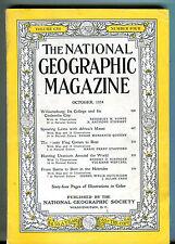 National Geographic Magazine October 1954 Williamsburg VG 071316jhe
