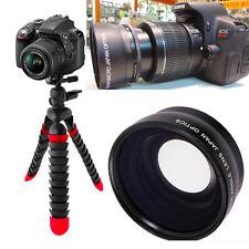 "WIDE ANGLE LENS + 12"" FLEX TRIPOD FOR Canon Rebel EOS  T3 T3I T4 T5 T6 7D 6D T7"