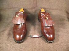 NEW NOS FootJoy FJ's REX Last Classics Brown Lizard Kiltie Golf Shoes size 13 W