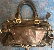 Chloe Women's Paddington Handbag Leather Black Size Medium