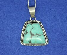 925 Sterling Silver Handwrought Turquoise Necklace Unisex