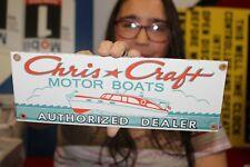 Chris Craft Motor Boats Authorized Dealer Fishing Gas Oil Porcelain Metal Sign