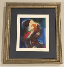 18x20 framed matted SIGNED NUMBERED HC Seriograph print LONDON by LINDA LE KNIFF