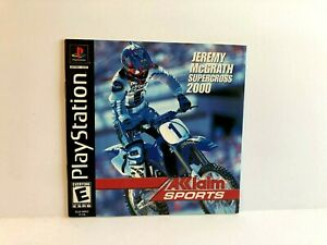 SuperCross 2000 PS1 MANUAL ONLY Authentic