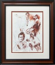 "LeRoy Neiman ""John McEnroe- Tennis"" FRAMED Art Print Tennis Champion American"