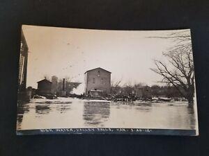 1912 Valley Falls Kansas Flood Real Photo Postcard RPPC