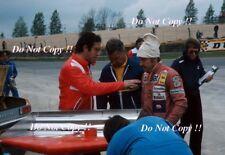 Clay Regazzoni & Mauro Forghieri Ferrari British Grand Prix test 1976 fotografía