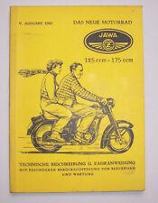 Das neue Motorrad JAWA 125 ccm- 175 ccm Technische Beschreibung Fahranweisung !