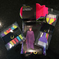 COLOR TRAK TOOLS CAPE,BOWLS,CLIPS,BRUSHES HAIR COLOR KIT-NEONS LIMITED EDITION