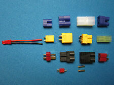 2X adapter Jst female to M/F Ec2 Ec3 Xt30 Xt60 Deans T Micro Trx Tamiya 2Mm Rc