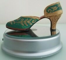 """Just The Right Shoe by Raine 1999 Qvc """"Carved Heel"""" #25096 Collectable"""