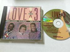 Chuck Jackson O.C. Smith & Cuba Gooding 1993 Love X 3 CD + FRONT INLAY ONLY RAR