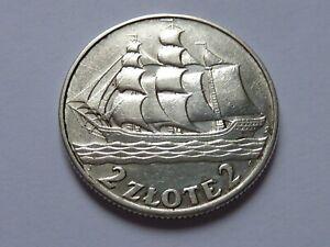 Pologne. Magnifique 2 zlote 1936.