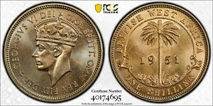 1951-KN British West Africa Shilling PCGS SP66 - Kings Norton Mint Proof