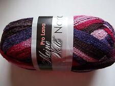 Meine Wolle Pro Lana Nora ruffle mesh yarn, purple/pink , 1 skein (36 yds)