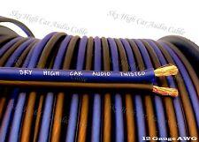 300' feet TRUE 12 Gauge AWG BL/BK Speaker Wire W/ SPOOL Car Home Audio GA