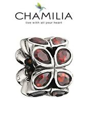 Genuine CHAMILIA 925 sterling silver Twinkle Red charm bead, Christmas LE