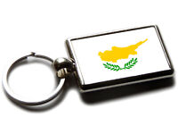 Flag of Northern Island National Colours Quality Leather and Chrome Keyring