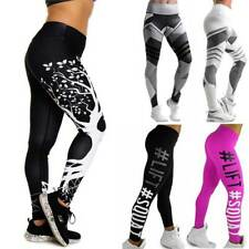 Women High Waist Yoga Pants Sport Gym Print Compression Leggings Fitness Stretch