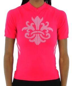 SheBeest Strada Short Sleeve Jersey - Women's Cycling Top - Berry - Medium