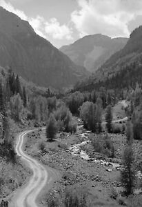 "1940 Mountain Stream and Road, Ouray County, CO Old Photo 13"" x 19"" Reprint"