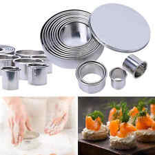 1 Set 12pcs Stainless Steel Round Cookie Cutter Cookie Molds for Baking Pastry
