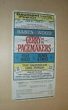 More details for gerry & pacemakers. babes in the wood pantomime 1964 original handbill. flyer