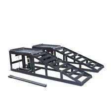 SwitZer Vehicle Car Ramp Lift 2 Ton Hydraulic Jack Garage Heavy Duty Grey x 2