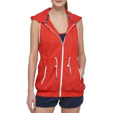 TOMMY HILFIGER SPORT Womens Banded-hem Outerwear Hooded...