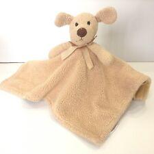 Piccolo Bambino Tan Dog Security Blanket Lovey Plush Puppy