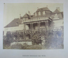 Schloss Neuwaldegg Originalfotografie, Albumin auf Karton Wien um 1862