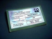 LANCIA DELTA INTEGRALE PPG COLORE / COLOUR / FARBTON ROSSO MONZA 155 STICKER