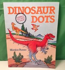 Dinosaur Dots: Connect The Dots And Color Book, (1991) By Monica Russo, NEW